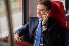 Talking the phone Stock Images