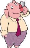 Talking pig Royalty Free Stock Photos