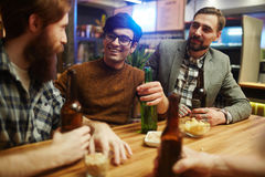 Talking in pub Stock Photography