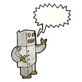 talking robot cartoon Royalty Free Stock Image