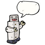 talking robot cartoon Royalty Free Stock Photos