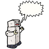 talking robot cartoon Royalty Free Stock Images