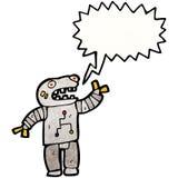 talking robot cartoon Stock Photography