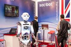 Talking Robot, CeBit 2014 Stock Photo