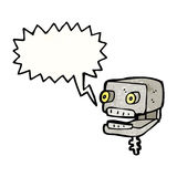 talking robot head cartoon Royalty Free Stock Image