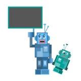 Talking Robot set Royalty Free Stock Images