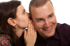Talking secrets and rumors Royalty Free Stock Photo