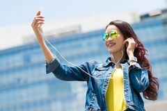 Talking selfie Royalty Free Stock Image