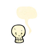 Talking skull cartoon character Royalty Free Stock Photos