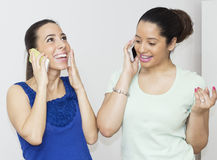 Talking by Smart Phone Royalty Free Stock Images