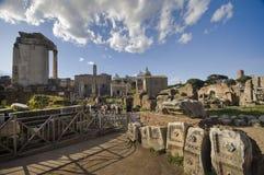 The Talking Stones. The talking ruins of the Foro Romano. Rome Stock Photography