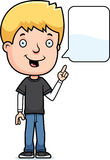 Talking Teen Boy. A cartoon illustration of a teenage boy talking Royalty Free Stock Images
