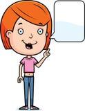 Talking Teen Girl. A cartoon illustration of a teenage girl talking Royalty Free Stock Photography