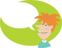 Talking teenager. Illustration of Talking teenager with blank bubble talk Stock Photo