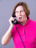 Talking on the  Telephone Royalty Free Stock Image