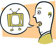 Talking Television Royalty Free Stock Photos