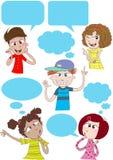Talking and thinking stock illustration
