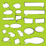 Talking and thinking vector set bubbles, comic speech balloon Royalty Free Stock Photos