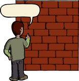 Talking To A Brick Wall Royalty Free Stock Photos