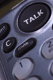 Talking on the touchtone phone Royalty Free Stock Photos