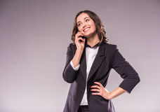 Free Talking Woman Stock Images - 59889254