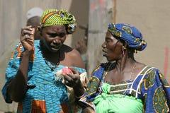 Talking women in Djenne Stock Image