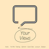 Talking about your views or good idea in speech by Royalty Free Stock Images