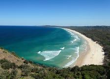 Talkstrand in Byron Bay NSW Australië Royalty-vrije Stock Foto's