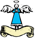 Tall Angel with Banner Royalty Free Stock Photography
