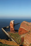 Tall Anna. Cliff line of Heligoland with the Tall Anna, the landmark of Heligoland Royalty Free Stock Photography