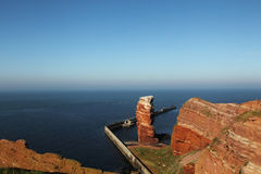 Tall Anna. Cliff line of Heligoland with the Tall Anna, the landmark of Heligoland Royalty Free Stock Images