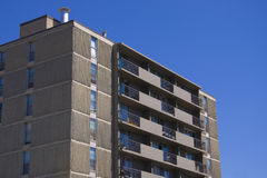 Tall apartment building Residential architec Stock Image