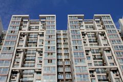 Tall apartment buildings Royalty Free Stock Photo