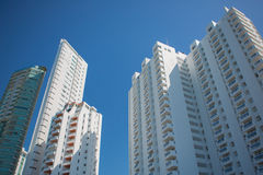 Tall apartment buildings in Bocagrande, Cartagena Royalty Free Stock Image