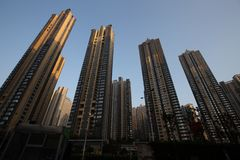 Tall apartment buildings in changsha china stock photography