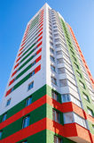 Tall apartment buildings under construction Royalty Free Stock Photography