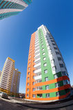 Tall apartment buildings under construction Stock Photos