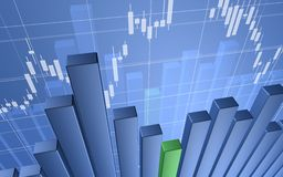 Tall Bar Chart Stock Photography