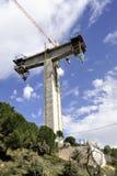 Tall bearing of new bridge. Royalty Free Stock Image