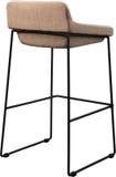 Tall beige bar stool isolated on white. Modern designer Bar chair. Stock Photo