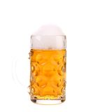 Tall big mug of beer with foam. Stock Photo