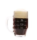 Tall big mug of beer with foam. Royalty Free Stock Photography
