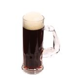 Tall big mug of beer with foam. Royalty Free Stock Image