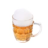 Tall big mug of beer with foam. Stock Images