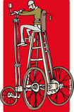Tall bike. Man on a very tall customised bike Stock Photography