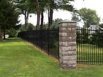 Tall black fence Royalty Free Stock Photos