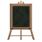 Tall blackboard on tripod object isolated Royalty Free Stock Image