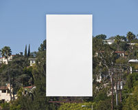 Tall Blank Billboard Stock Image