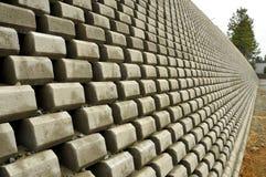 Tall Blocked Retaining Wall. Tall Concrete Blocked Retaining Wall in Grass Valley, California Royalty Free Stock Photos