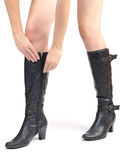 Tall boots Stock Photography